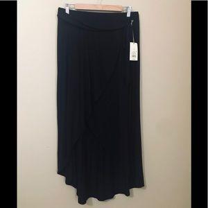 NWT L Asymmetric Maxi Wrap Skirt